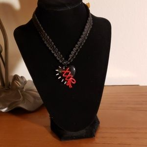 Jewelry - Spiked & Tied Heart Necklace